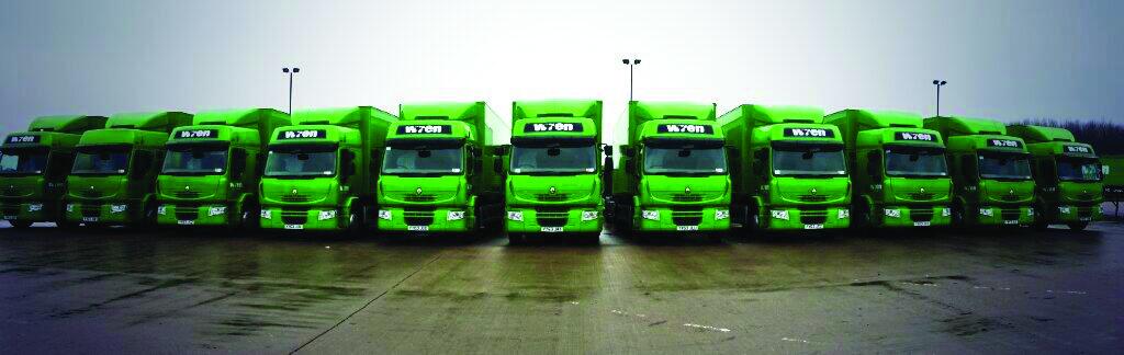 La gran flota de camiones Wren