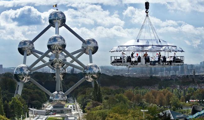 Cena en el cielo en Bruselas