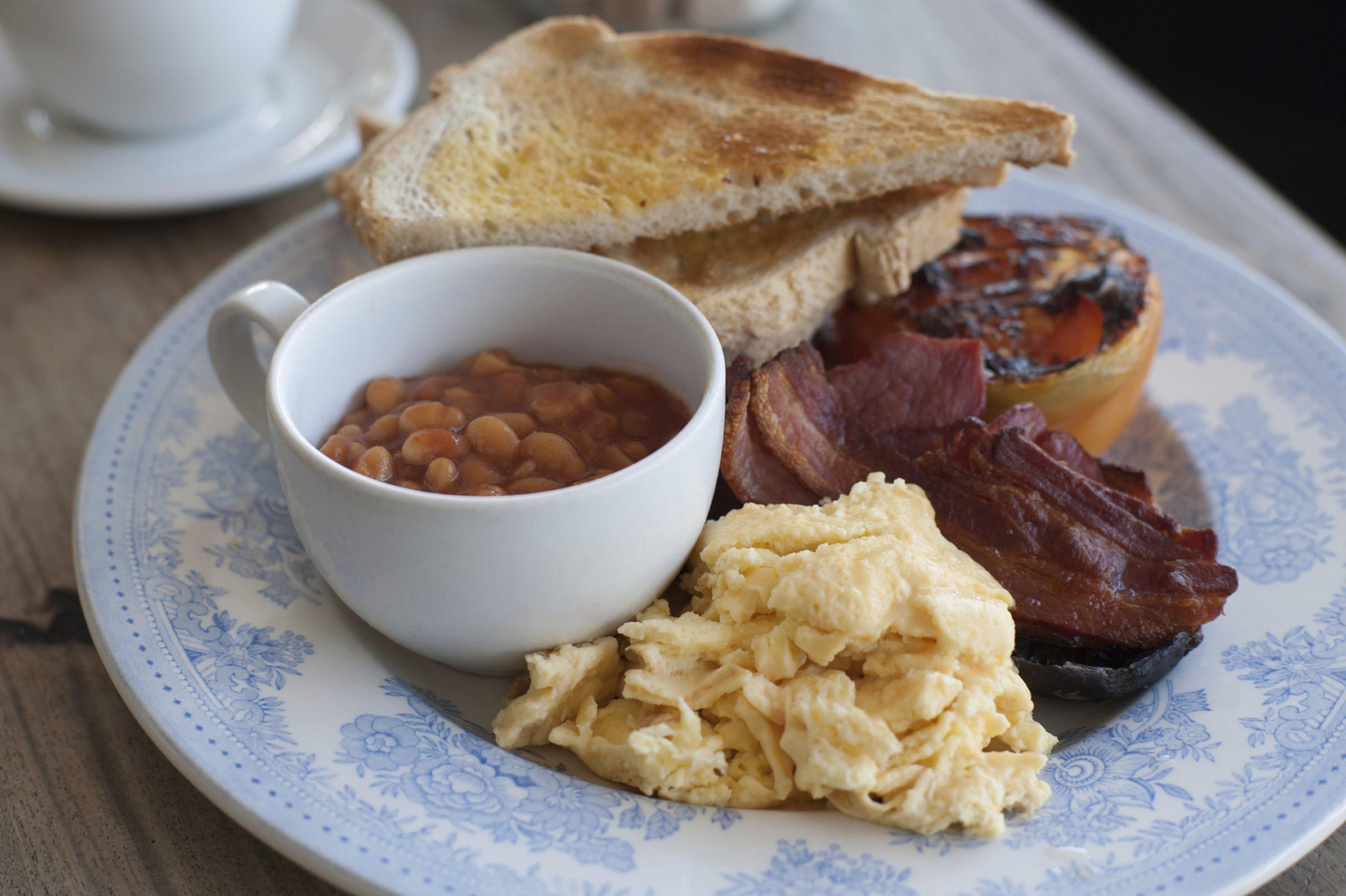 Desayuno tradicional inglés