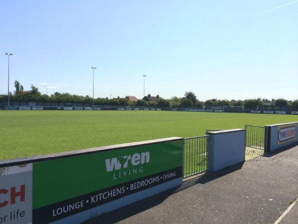 El campo de fútbol de Barton Town