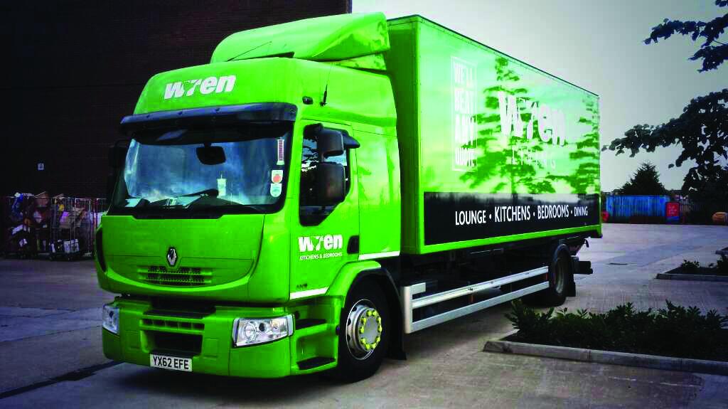 Camión de cocinas de Wren Verde Brillante
